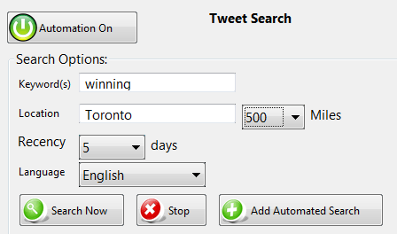tweet-search-automation