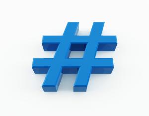 Blue-Hashtag