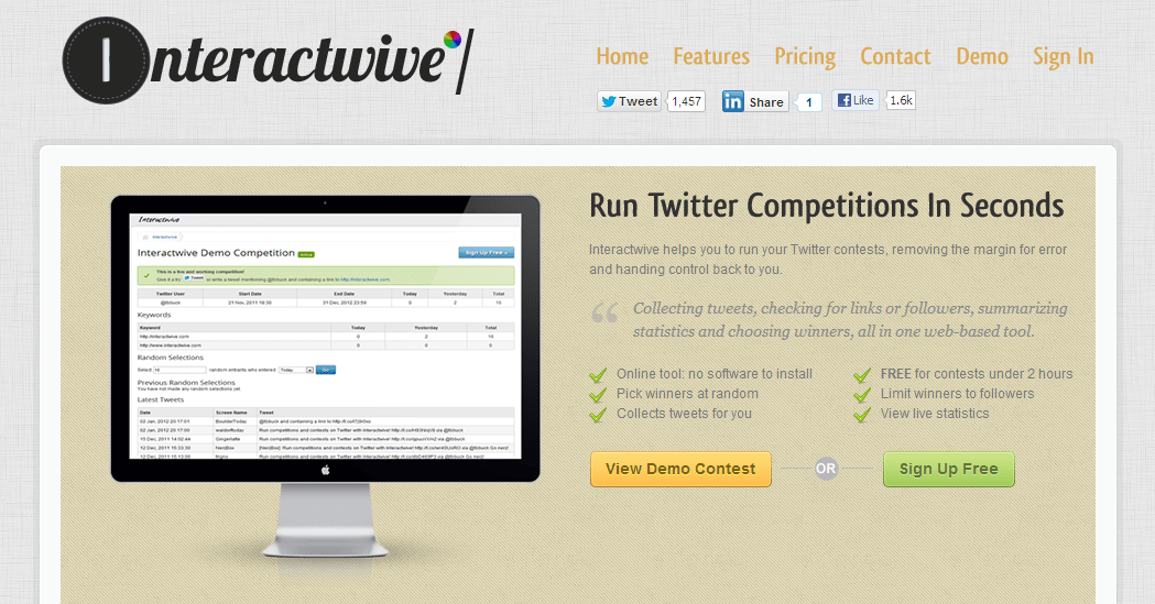 interactwive-twitter-contests-tool